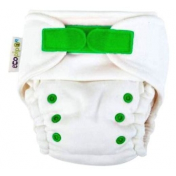 Ecopipo Onesize Night Nappy  bamboo Green Hook and loop (Velcro).jpg