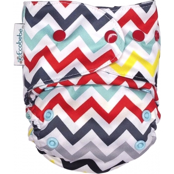 Ecobebé One Size All in 2 Nappy System Chevron.jpg