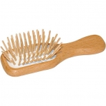 ecoLiving mini wooden plastic-free hairbrush